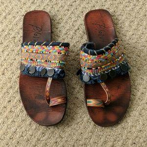 Blowfish Malibu Multicolored Beaded Sandals